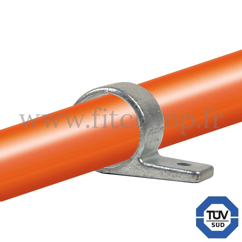 Rohrverbinder 199: Befestigungsring mit Flansch 1 Bohrung für Rohrkonstruktion. FitClamp.