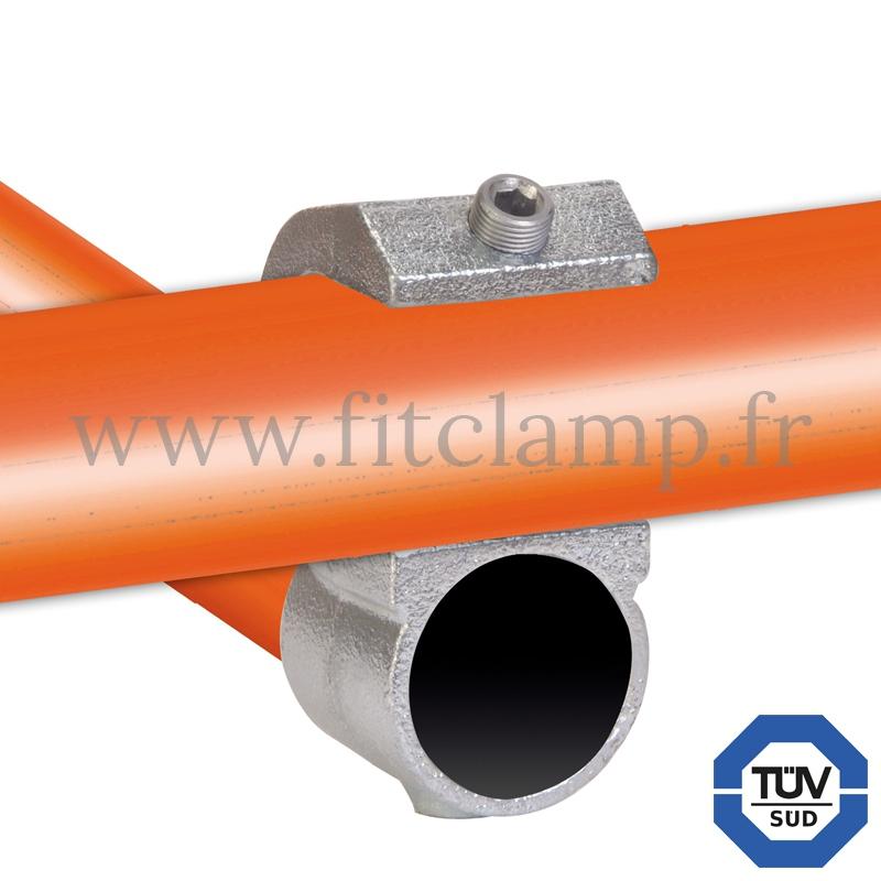 Conector tubular 201: Cruz girada abierta para montaje tubular. Se montan con una simple llave Allen