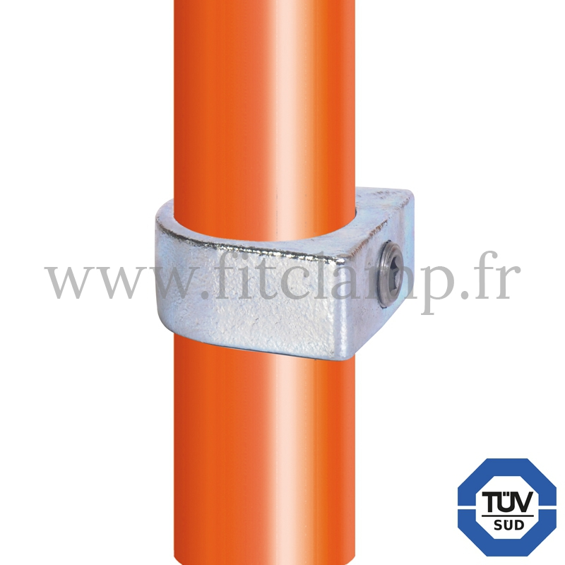Tube clamp fitting 235: Relay ring compatible for use for tubular structures. For joining 1 tube. FitClamp
