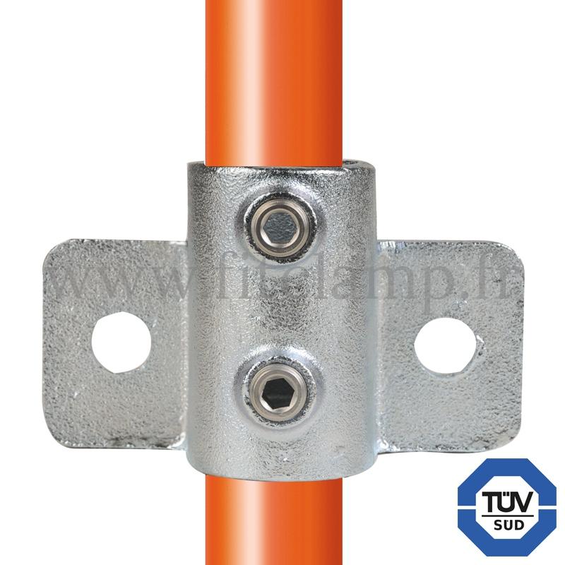 Conector tubular 246: Soporte de fijación en pared reforzado para montaje tubular. Se montan con una simple llave Allen