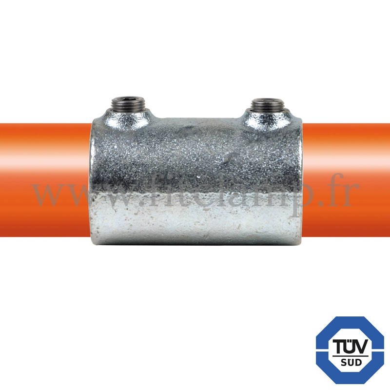 Tube clamp fitting 149 for tubular structures: External sleeve joint. with double galvanised protection. FitClamp