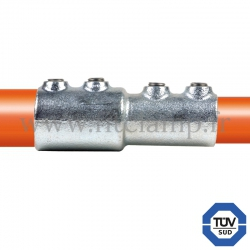 Tube clamp fitting BA-149  for tubular structures: External reducing sleeve clamp. FitClamp
