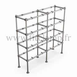 C42 Tubular double upright shelving unit: Furniture in tubular structure