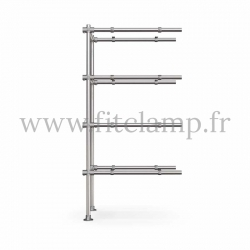 Tubular upright shelving extension: Furniture in C42 tubular structure. Quick and easy assembly with an Allen key. FitClamp