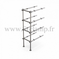 Tubular upright shelving extension: Furniture in C42 tubular structure. Easy to install. FitClamp