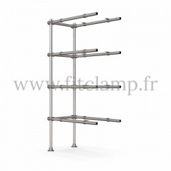 Tubular upright shelving extension: Furniture in C42 tubular structure. 5 levels