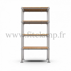 Tubular single upright shelving unit. Tubular structure. Quick and easy assembly with an Allen key. FitClamp