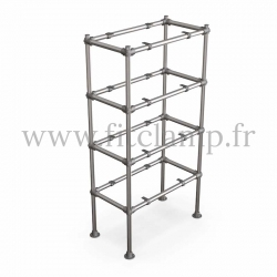 Tubular single upright shelving unit. Tubular structure. Perfect for shop layouts. FitClamp