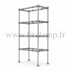 Tubular single upright shelving unit. Tubular structure. Easy to install. FitClamp