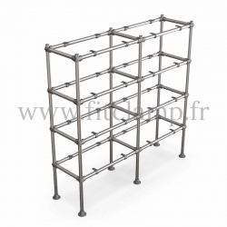 Tubular double upright shelving unit. Tubular structure. Perfect for shop layouts