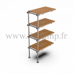 Upright shelving unit extension. B34 Tubular structure. FitClamp