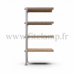 Upright shelving unit extension. B34 Tubular structure. Perfect for shop layouts