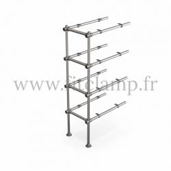 Upright shelving unit extension. B34 Tubular structure