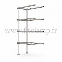 Etagère droite extension en structure tubulaire C42 - FitClamp