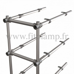 B34 Upright shelving unit extension. Tubular structure. Quick and easy assembly with an Allen key. FitClamp