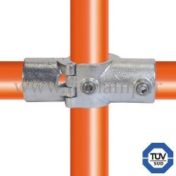 Raccord tubulaire 119A-D pour un assemblage et structure tubulaire. Avec double galvanisation