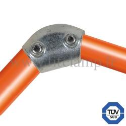Raccord tubulaire 124 pour un assemblage et structure tubulaire. Avec double galvanisation