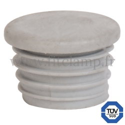 Tube clamp fitting 133 for tubular structures: Plastic end cap. FitClamp