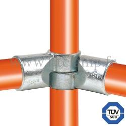 Raccord tubulaire 148 pour un assemblage et structure tubulaire. Avec double galvanisation