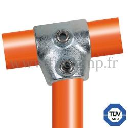 Raccord tubulaire 153 pour un assemblage et structure tubulaire. Avec double galvanisation