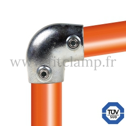 Tube clamp fitting 154 for tubular structures: Short tee 0-11°. FitClamp