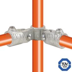 Raccord tubulaire 168 pour un assemblage et structure tubulaire. Avec double galvanisation