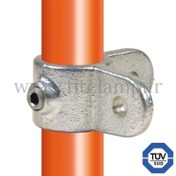Tube clamp fitting 168M for tubular structures: male corner swivel 90°. With double galvanized protection. Fitclamp