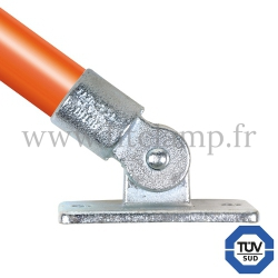 Tube clamp fitting 169  for tubular structures: Swivel base. With double galvanised protection. FitClamp