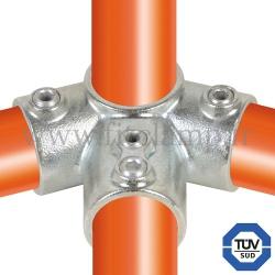 Raccord tubulaire 191 pour un assemblage et structure tubulaire. Avec double galvanisation