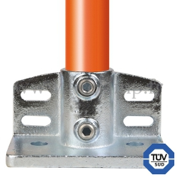 Tube clamp fitting 247 for tubular structures: Flange with toeboard adaptor. FitClamp