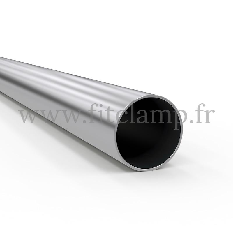 Tube rond Aluminium anodisé Ø C42. FitClamp