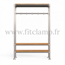 Tubular hallway furniture:  Furniture in tubular structure. Its industrial style is right on trend. FitClamp