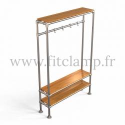 Tubular hallway furniture:  Furniture in tubular structure