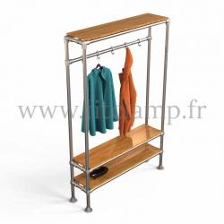 Tubular hallway furniture:  Furniture in tubular structure. FitClamp