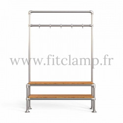 Tubular narrow hallway furniture: Furniture in tubular structure. Quick and easy assembly with an Allen key