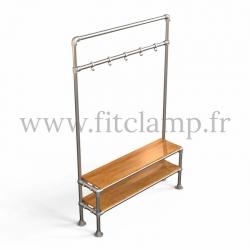 Tubular narrow hallway furniture: Furniture in tubular structure. FitClamp