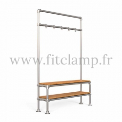 Tubular narrow hallway furniture: Furniture in tubular structure. Easy to install. FitClamp