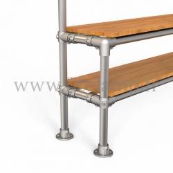 Tubular narrow hallway furniture: Furniture in tubular structure. Option foot : plate 131