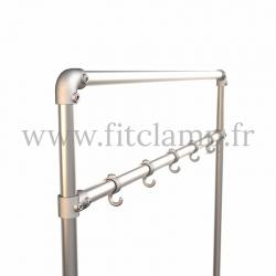Tubular narrow hallway furniture: Furniture in tubular structure. Detail 2