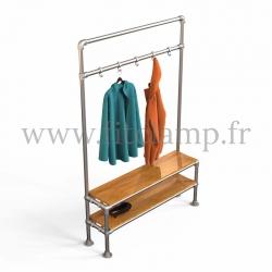 Tubular narrow hallway furniture: Furniture in tubular structure. Easy to install