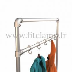 Tubular narrow hallway furniture: Furniture in tubular structure. Detail 3