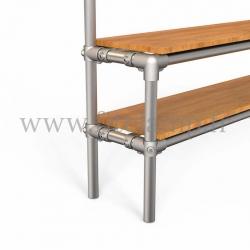 Tubular narrow hallway furniture: Furniture in tubular structure. Option foot : plate 184