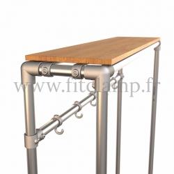 Tubular hallway furniture:  Furniture in tubular structure. Detail