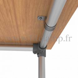 Raccord tubulaire 128 : Coude 90 Type corner  compatible 3 tubes pour un assemblage tubulaire. Exemple 1