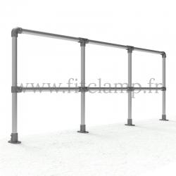 Tubular upright barrier start/end post: D48 Tubular structure