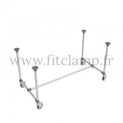 Table standard en structure tubulaire C42 acier galvanise - Sans plateau. FitClamp