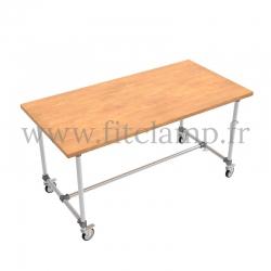 Table standard en structure tubulaire C42 acier galvanise - FitClamp