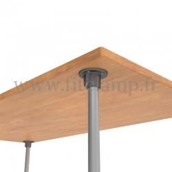 Table standard en structure tubulaire C42 acier galvanise - Raccord tubulaire platine. FitClamp