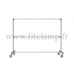 Tubular structure two-tier clothes rail. Easy to install