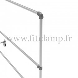 Tubular structure two-tier clothes rail. Tubular structure with galvanised steel round tubes Ø B 34.